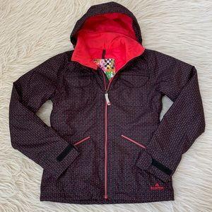 Burton snowboard jacket coat dryRide polka dot